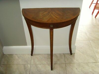 Reprodux Bevan Funnell Half Moon Demi Lune Hall Side Table Up-cycling Project