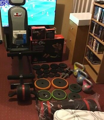 Body Sculpture Aero Gym + selection of weights and exercise equipment