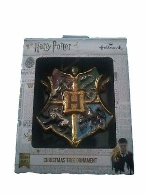 Harry Potter Christmas Ornament Hogwarts house Shield Coat of Arms wizard
