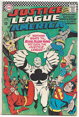 Justice League of America #43 (VG) 1966, 1st appearance Royal Flush Gang