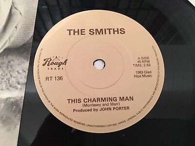 "The Smiths - This Charming Man 1st Withdrawn Pressing Rare!! 7"" Morrissey"