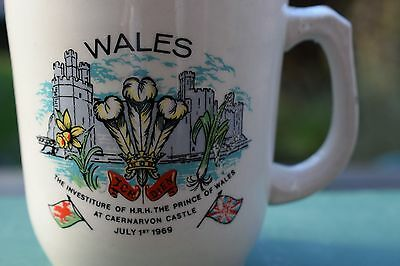ROYALTY Commemorative Mug Investiture of HRH the prince of Wales 1 July 1969