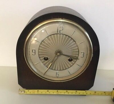 MANTLE CLOCK  WORKING 8 DAY BENTIMA 1920s /1930s   WITH PERIVALE MOVEMENT.NICE