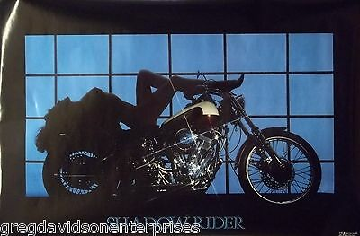 Shadow Rider 23x35 80's Pin Up Girl Poster 1986 Indian Motorcycle