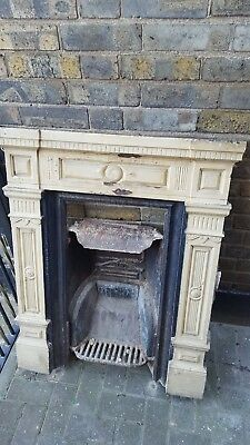 solid victorian cast iron fireplace