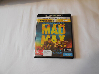 MAD MAX FURY ROAD ( HDR 4K Ultra HD + Blu-ray) - very good condition