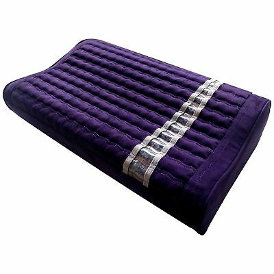 MediCrystal FIR Amethyst SOFT Pillow - Non Electric - Ion Far InfraRed - PURPLE