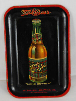 Vintage Tin Litho Tech Beer Tip Tray - Pittsburgh Brewing Co.