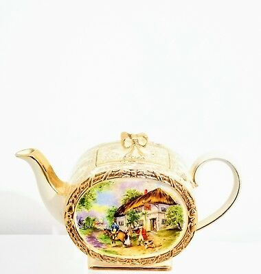 Vintage Sadler Barrel Shaped Teapot