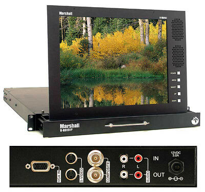"""Marshall Electronics V-RD151P 15.1"""" Rack Mount Pull-Out LCD Monitor Audio"""