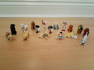17 x Vintage 1994-6 MEG Puppy In My Pocket/ Animal Hospital - Puppy Dog  Figures