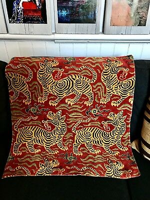 Clarence House tibet small scale tiger pattern, velvet mohair