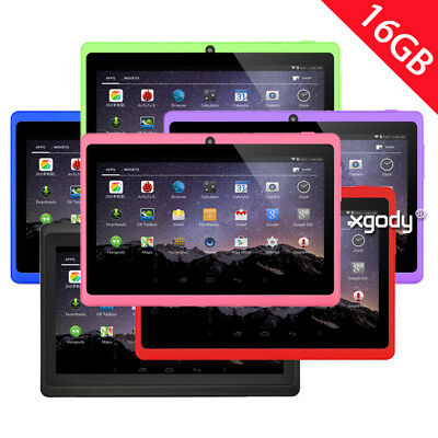 """XGODY Kids 7"""" HD 16GB Android 4.4 WIFI Dual Camera Tablet PC for Children Gift"""
