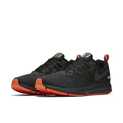 9e9ab543dfcb2 Men Nike Zoom Winflo 4 Shield Running Shoes Black Anthracite Crimson 921704 -001