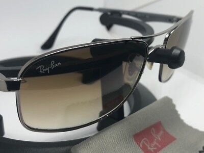 c93b3f8702 100% Authentic Ray-Ban RB3484 (004 51) Sunglasses Silver Metal Frame