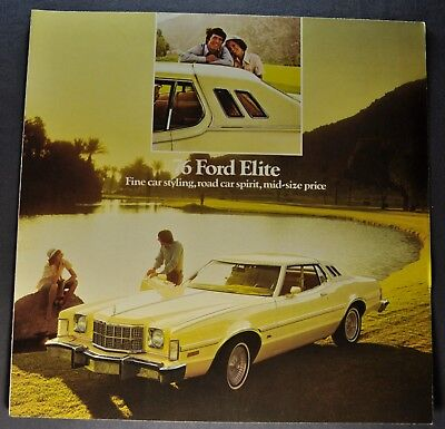 1976 Ford Elite Sales Brochure Folder Excellent Original 76