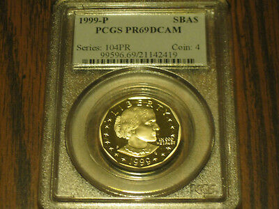 1999-P Susan B. Anthony Dollar Graded PCGS PR69DCAM