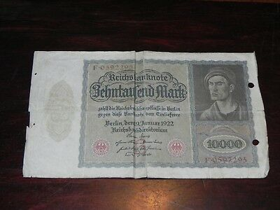 Germany 10000 Mark Banknote 1922 P-70 Circulated JCcug 190114
