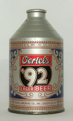 Oertels '92 Lager Beer 12 oz. IRTP Crowntainer Cone Top Beer Can-Louisville, KY