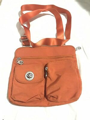 ca8057fc38 NEW BAGGALLINI SYDNEY SILVER Crossbody Shoulder Bag Khaki Tan Nylon ...