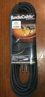 ROCKCABLE by WARWICK 30 FOOT GUITAR / BASS / PROFESSIONAL INSTRUMENT CABLE NEW