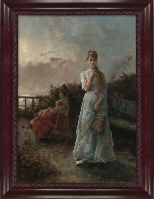 Victorian Trading Co An Evening at Sea Alfred Stevens Ladies Oceanside Print