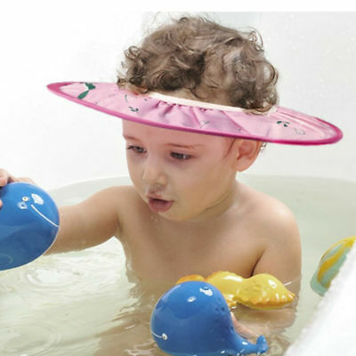 1pc Shower Cap Ear Protection Bath Caps Bathing Hat Shampoo Cap for Toddler Kids