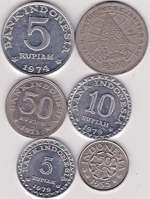 6 Different Coins From Indonesia