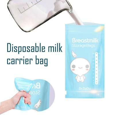 Disposable Breastmilk Freezer Storage Bags Double Zipper Seal Leak-Proof Pouch