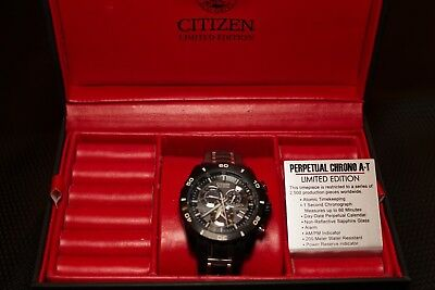 Citizen Limited Edition Eco-Drive Perpetual Chrono A-T Watch WR 200 Excellent!