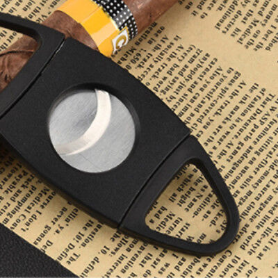 Pocket Cigar Cutter Stainless Steel Double Blades Guillotine Knife Scissors New