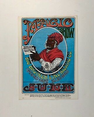 Big Brother & The Holding Company, Family Dog, 1st printing handbill NM 1967