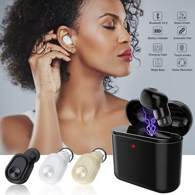 Mini In-Ear Bluetooth Écouteur HiFi Casque stéréo sans fil Headset Main libre FR