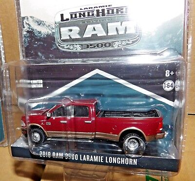 1/64 Greenlight Dodge RAM RED & BROWN DUALLY LARAMIE LONGHORN exclusive hitch