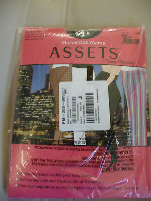 Assets by Sara Blakely Marvelous Mama Black Maternity Terrific Tights Size 2
