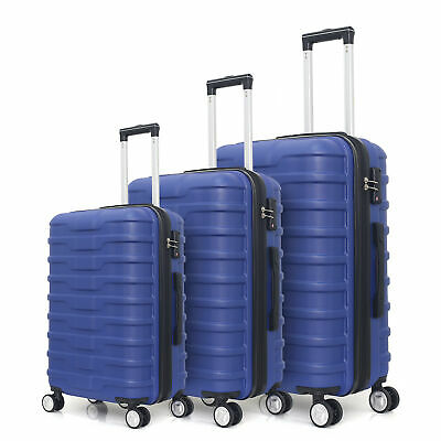 Flieks Hardside Luggages 3 Piece Luggage Set Lightweight Spinner Suitcase