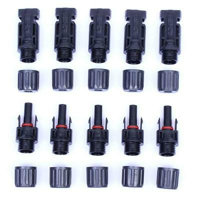5 Pairs MC4 30A Male Female M/F Wire PV Cable Connector Set Solar Panel Tool NEW