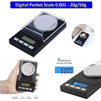 Electronic Pocket Mini Digital Gold Jewellery Weighing Scale 0.001g to 20g/50g