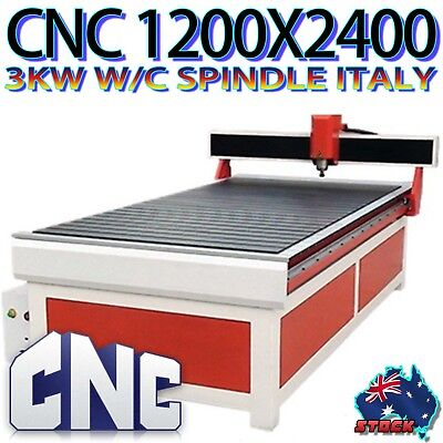 CNC Australia 1240mm X 2460mm CUTTING AREA ROUTER FOR 3D & SIGNS WITH METAL 3KW