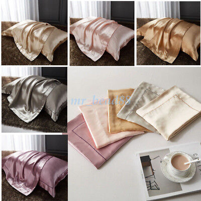 Soft 100% Mulberry Pure Silk Pillowcase Covers Queen Silk Anti-Ageing Beauty