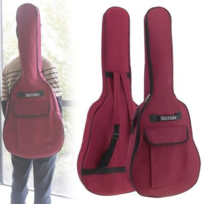 40/41 Inch Oxford Fabric Guitar Case Gig Bag Double Straps Padded 5mm Waterproof