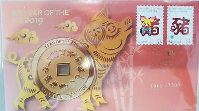 2019 Australia Year Of The Pig Medallion Cover