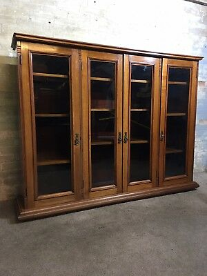Antique Victorian Solid Mahogany Bookcase  . Delivery Available