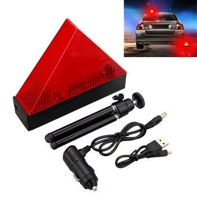 Winter Car Warning Triangle Flashing Led Light Emergency Breakdown Safety Lamp