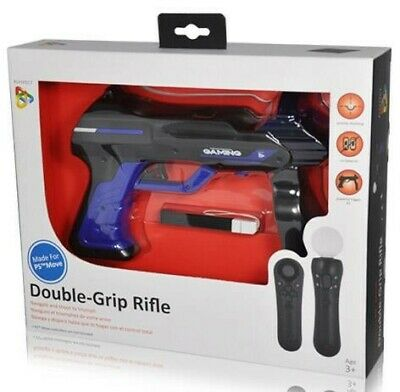 Double Grip Rifle (Pistola Ps Move) Per Sony Ps3-Ps4