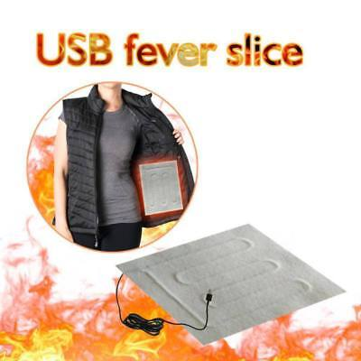 5V USB Heating Pad Portable DIY Vest Jacket Clothes Home Heating Warmer Pads AU