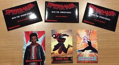 Spiderman Into The Spider-verse Collectable Card Packs X3 Air Jordan 1 Sealed