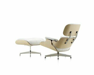 Magnificent Eames Lounge Chair And Ottoman 100 Genuine Leather White Machost Co Dining Chair Design Ideas Machostcouk