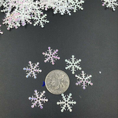 6F77 300pcs Snowflake Hanging Ornaments Featival Handcrafts