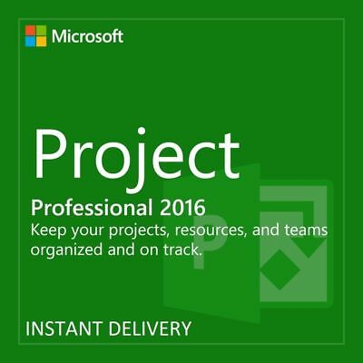 Microsoft Project 2016 Professional MS Pro Original Product Key Full Version